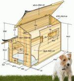 Будка простая для собаки – виды, материалы изготовления, конструкция, варианты дизайна, технология сооружения