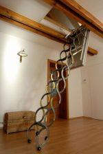 Чердачная лестница утепленная – размеры откидной в частном доме, утепленные на потолок на улице, отзывы о конструкции, приставные и автоматические