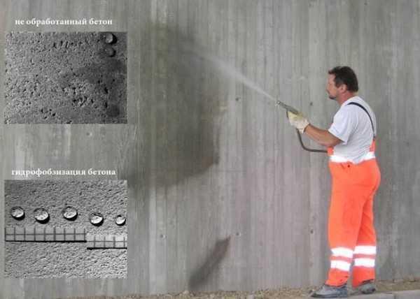 Гидрофобность бетона кухня светлый бетон